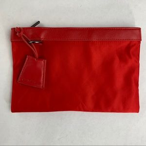 My red Mac makeup pouch